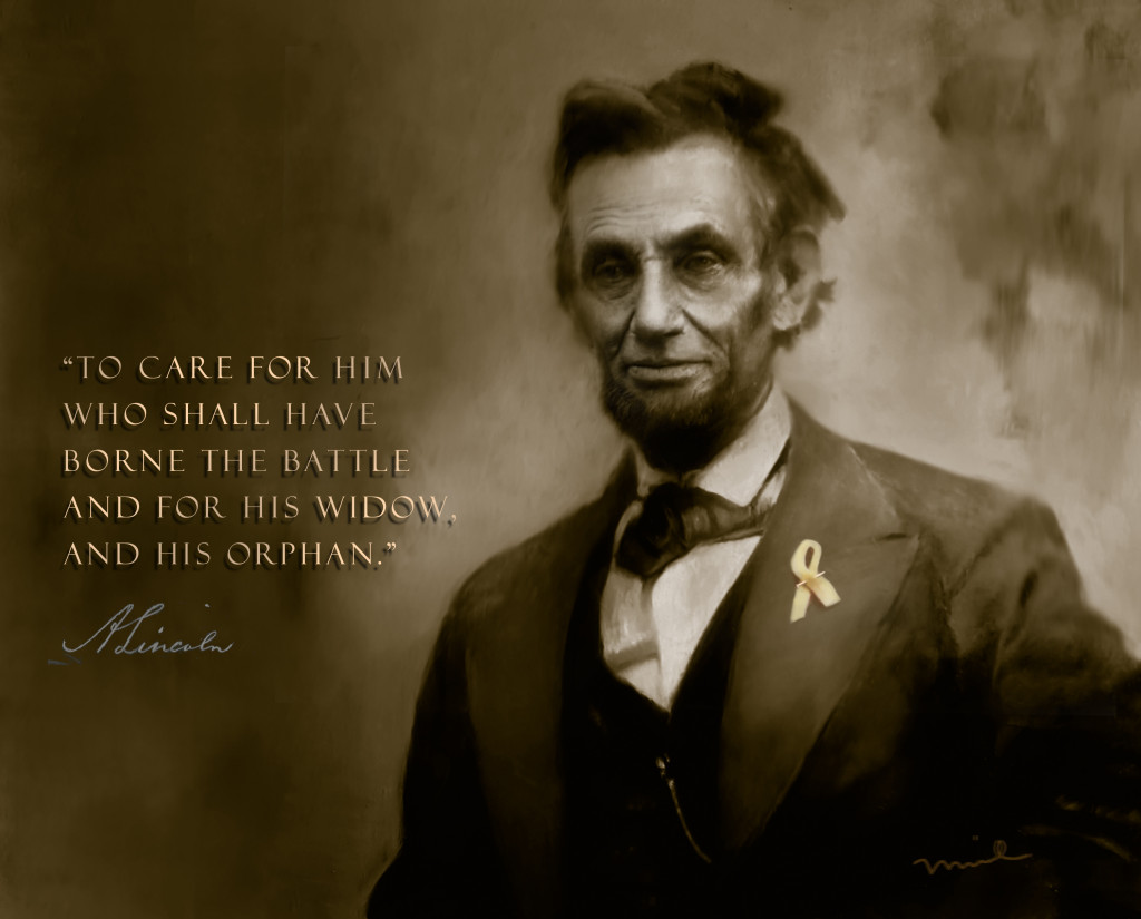 Lincoln with Ribbon Duotone w Type